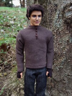 """Gale Hawthorne Repainted Ken Doll and Outfit from """"The Hunger Games: Catching Fire"""" - by Morgan May @ Stardust Dolls - http://www.stardustdolls.com"""