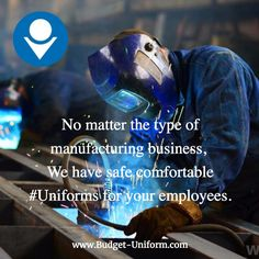 No matter the type of #manufacturing business, we have safe comfortable #Uniforms for your employees. #Metal #Glass #Parts #Machine #Food