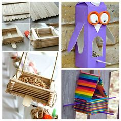 18 totally awesome bird feeder crafts for kids. I love the Lego bird feeder! Fun Arts And Crafts, Diy And Crafts Sewing, Crafts For Kids To Make, Crafts For Teens, Hobbies And Crafts, Crafts To Sell, Easy Crafts, Kids Diy, Bird Feeder Craft