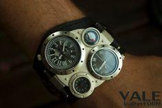 Herrenuhr schwarz Haut, Große Herren Uhr, Quarz schwarz Lederarmband, Armband  Handgelenk, personalisierte Uhr ansehen für Männer-Geschenk