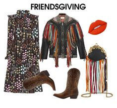 """Friends giving"" by ralugoii on Polyvore featuring Valentino, Gucci, Lime Crime and friendsgiving"