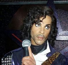 Prince wax statue and Madame Tussauds Wax Museum.  Not a great likeness, but hey...it's Prince!