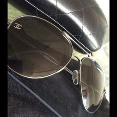 Chanel Aviator Sunglasses **AUTHENTIC** Gorgeous Chanel Aviators. Hardly worn. Still in love with them, I just don't wear them enough. Excellent condition. Original box, Information booklet and International Guarantee Certificate included. CHANEL Accessories Sunglasses