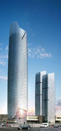 Powerlong Center Tower, Tianjin, China by Gensler Architects :: 59 floors, height 289m