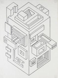 Floor plan oblique image: fantasy building - You Must Do Fujimoto Sou, Vector Design, Graphic Design, Isometric Art, Perspective Art, Geometric Poster, Art Courses, Color Pencil Art, Fantasy
