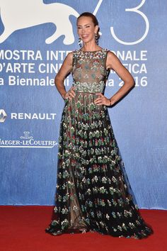 Yvonne Scio attends the premiere of 'Franca: Chaos And Creation' during the 73rd…