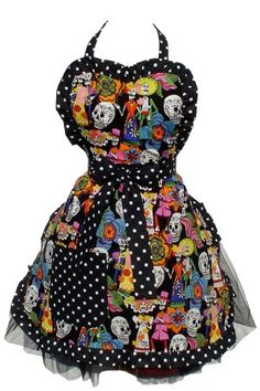 Catrinas and Skulls Apron -Trish (Amanda - there are other aprons here you might like)