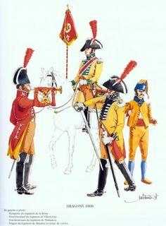 Tropas Españolas. Dragones 1808