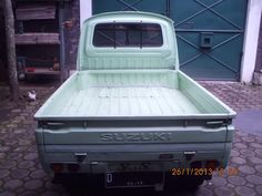 Suzuki 1980 Hijau Muda (D) Originale Suzuki Carry, Pickup Trucks, Outdoor Furniture, Outdoor Decor, Outdoor Storage, Home Decor, Decoration Home, Room Decor, Home Interior Design
