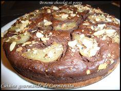 Brownie chocolat et poires http://www.carmen-cuisine.com/article-brownie-chocolat-et-poires-87191467.html