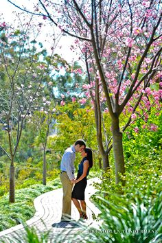 Balboa Park Engagement Photos San Diego | Cherry Blossom Engagement Photos