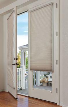 Patio door shades window treatments 30 Ideas for 2019 Shades For French Doors, Blinds For French Doors, French Door Windows, French Door Curtains, French Doors Patio, Windows And Doors, Burlap Curtains, Bay Windows, Glass Door Curtains