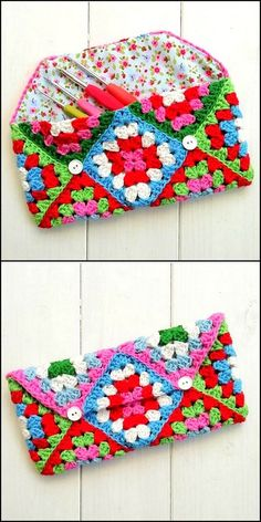 50 Attractive DIY Crochet Pattern Ideas & Appealing Designs - DIY and Crafts 2019 Diy Crochet Patterns, Crochet Designs, Crochet Stitches, Crochet Projects, Knitting Patterns, Crochet Ideas, Crochet Pouch, Crochet Cap, Crochet Purses
