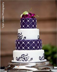 elegant wedding cake - Purple Wedding Cakes