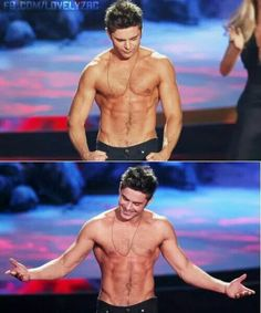 Zac Efron // best shirtless performance