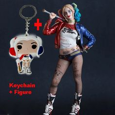 Crazy Toys Suicide Squad Harley Quinn Action Figure and Harley Quinn Keychain Doll Anime Collectible Model //Price: $65.46 & FREE Shipping //     #jaredletojoker #jarley #jokerandharley #dccomics #madlove #thecrazyones #suicidesquad2016