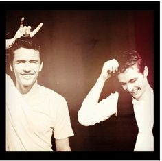 James and Dave Franco.  The most attractive siblings known to man.