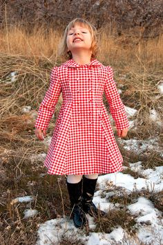 Gingham dress coat - I LOVE the cut and the fabric!