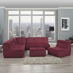 Align comes generously padded and upholstered in fine fabric, with slight button tufting and trim for only the gentlest effect. #sofas #furniture