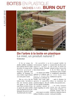 L'apiculture est de manière systématique la seule option connue et envisagée…