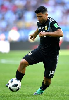 Serigo Aguero of Argentina runs with the ball during the 2018 FIFA World Cup Russia group D match between Argentina and Iceland at Spartak Stadium on June 2018 in Moscow, Russia. Argentina Football Team, Zen, Kun Aguero, India Eisley, Olivia Hussey, World Cup Russia 2018, Sport Icon, Rugby Players, June 16