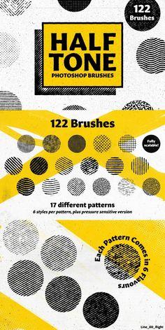Free Photoshop, Photoshop Brushes, Photoshop Design, Line Art Photoshop, Photoshop Effects, Kfc, Bowl Recipe, Brush Drawing, Halftone Pattern