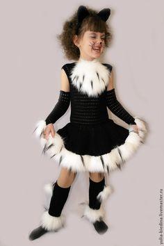 """Купить Карнавальный костюм """"Кошечка"""" - чёрный, карнавальный костюм, утренник, костюм для девочки, костюм кошки"""
