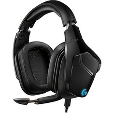 Logitech Lightsync Gaming Headset Stereo Mini phone Wired 5 Kilo Ohm 20 Hz 20 kHz Over the head Binaural Circumaural Cardioid Uni directional Microphone Black Logitech, Phone Microphone, Sound Science, Gaming Accessories, Desktop Accessories, Stylish Office, Audio, Band