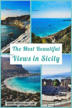 May 2019 - Don't have a boring Sicily Vacation! Plan a Sicily 5 Day Itinerary with beaches, cities, ruins and volcanoes- an exciting 5 Days in Sicily! Sicily Travel, Italy Travel Tips, Travel Europe, Europe Destinations, Holiday Destinations, Positano, Amalfi, Sicily Italy, Verona Italy