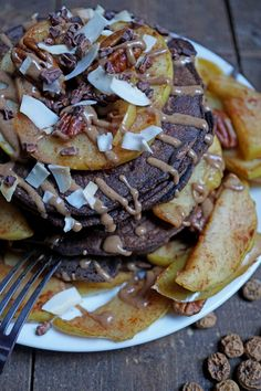 Chocolate Maca Tigernut Buckwheat Gluten Free Pancakes  | Breakfast Criminals