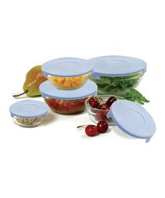 Look what I found on #zulily! Lidded Five-Piece Mixing Bowl Set #zulilyfinds