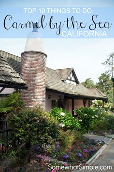 Top 10 Things to do in Carmel, California. Looked through and saw actual good ideas for this :)