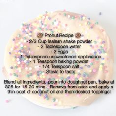 Who say's donuts can't be healthy? This yummy recipe was shared in our group cleanse group. Just another perk to be a part of this thriving community. Why deprive when you can thrive!  #liveyourdreams #healthyliving #nutritionalsuperfoods