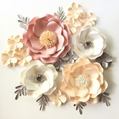 12 best paper flower images on pinterest in 2018 giant paper our wild rose flower template allow you to create flower in different sizes just play around petals size and quantities our tutorial shows how to make a mightylinksfo
