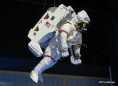 Kennedy Space Center, Florida. Atlantis Shuttle Display. Spacewalk.