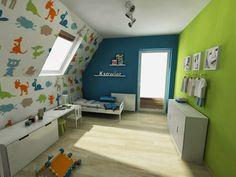blog o wnętrzach dla dzieci, inspiracje : 13 inspiracji jak urządzić pokój dziecka na poddaszu.