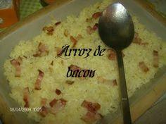 Receitas - Arroz de bacon - Petiscos.com
