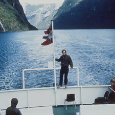 Boat cruising one of Norway's many fjords, Rick Steves travel info