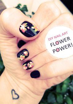 DIY Floral Nail Art