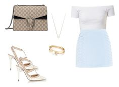 """""""514 outfit"""" by julieannbb13 on Polyvore featuring Cutie, Valentino, Monique Péan, Loren Stewart and Gucci"""