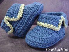 Resultado de imagem para gráficos de pontos de croche para sapatinhos de bebe m… – Örgü Modelleri ve Örgü Örnekleri Crochet Baby Boots, Booties Crochet, Crochet For Boys, Crochet Slippers, Baby Booties, Knit Crochet, Patron Crochet, Knitted Baby, Crochet Clothes
