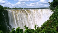 The Victoria Falls Victoria Falls presents a spectacular sight of awe-inspiring beauty and grandeur on the Zambezi River, forming the border between Zambia and Zimbabwe. Read more [...]