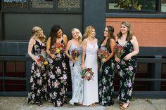 floral bridesmaids d