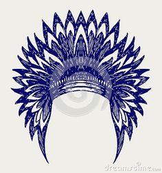 Native american indian headdress by Oleksandr Melnyk, via Dreamstime
