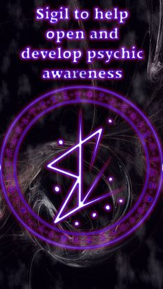 Sigil to help open and develop psychic awareness Wiccan Symbols, Magic Symbols, Wicca Witchcraft, Magick Spells, Tarot, Symbole Protection, Wiccan Spell Book, Practical Magic, Book Of Shadows