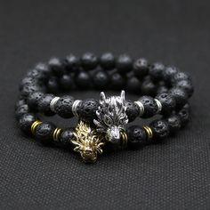 Cheap bracelet stone, Buy Quality bracelet button directly from China bracelet balance Suppliers: 8mm Silver Plated Animal Owl Head Bracelet With Natural Black Lava Rock Stone Energy Men Beaded Bracelets For Wom