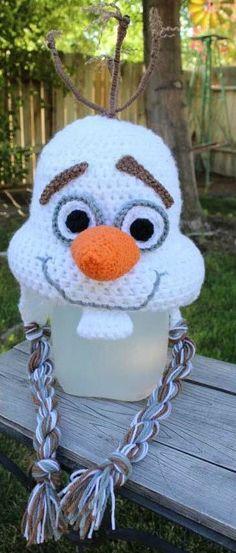 7e8b822d0aa Crochet Olaf Hat by SnazzyDazzyFlipFlops on Etsy