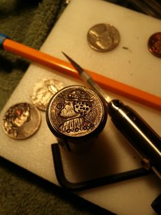 Brian Van Pelt is a Baltimore Maryland Artist whose work include hand carved Hobo Nickels. His Hobo nickels can be purchased on eBay. Click the link to see what's currently available. Hobo Nickel, Baltimore Maryland, Hand Carved, Carving, Van, Personalized Items, Artist, Wood Carvings, Artists