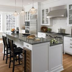 65 Trendy Kitchen Island With Stove Top Open Shelving - kitchenislands Kitchen Island With Granite Top, Kitchen Island With Seating, Diy Kitchen Island, New Kitchen, Kitchen Decor, Kitchen Ideas, Kitchen Sink, Kitchen Craft, Kitchen Rustic