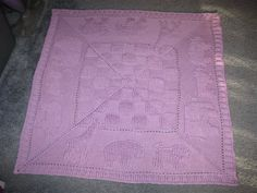 """animal border baby afghan - """"A Year of Baby Afghans Book 4"""" August. Ordered the book from Amazon."""